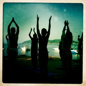 Ibiz Sun salutations Global Mala Day